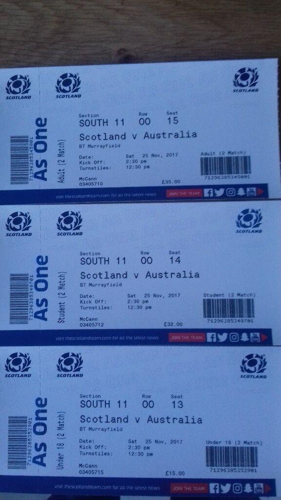 Scotland vs Australia Rugby Tickets