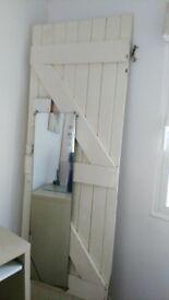 cupboard door with mirror