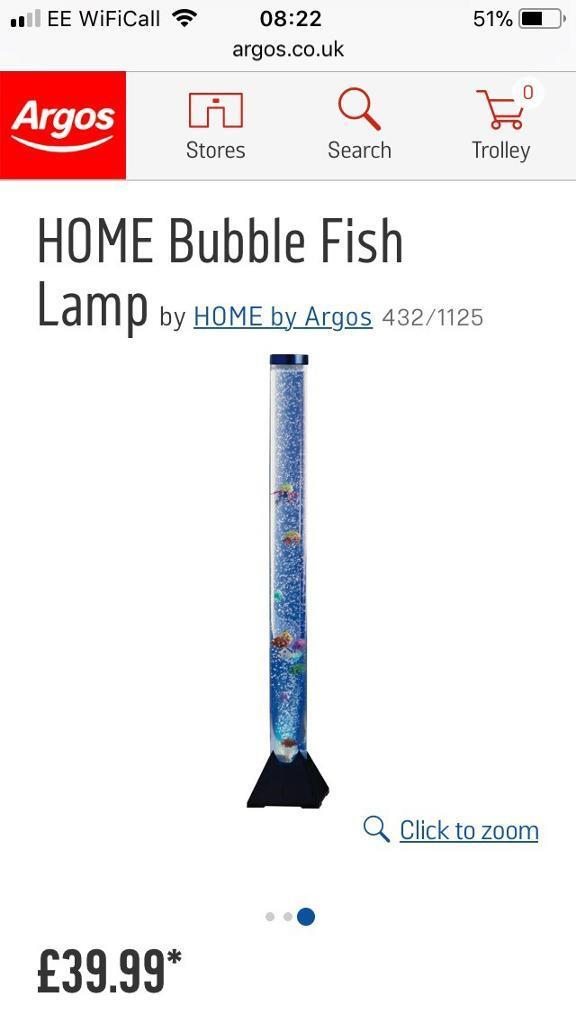 Lovely bubble fish lamp, excellent condition