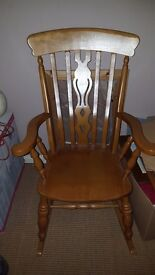 Solid wood rocking chair for sale