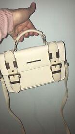 River Island mini cream satchel