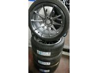 "18"" NEW XXR ALLOY WHEELS / NEW TYRES - AUDI / BMW ETC"