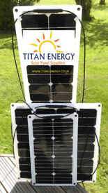 Flexible Solar Panels for CARAVANS MOTORHOMES 20W+ 50W 75W 140W TITAN ENERGY UK