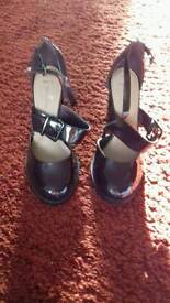 Gorgeous Burgendy Patent Shoes. Size 7 never worn