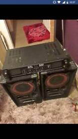 Spl 500 amp +speakers