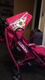 Koochi pink pushchair