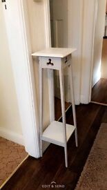 Overly shabby chic tall hallway/ display stand