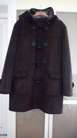 Coat Duffel- Brown Suede Effect