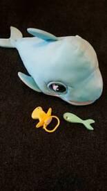 Blu blu interactive soft dolphin