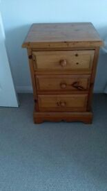 Bedside chest with three drawers.