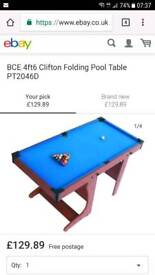 4ft kiddies snooker/pool table