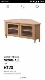 Skoghall Corner TV unit, Ikea, Oak