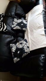 Black reclining sofa