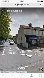 E12.Manor park Vacant shop with 2/3 bed flat/garage-storage room/Offrd parking