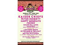 2 x £20 each tickets for Kaiser Chiefs at Dalkeith Country Park Sunday 24th June