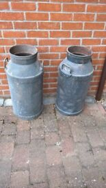 2 original milk churns