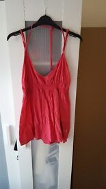 Oneill Red holterneck top
