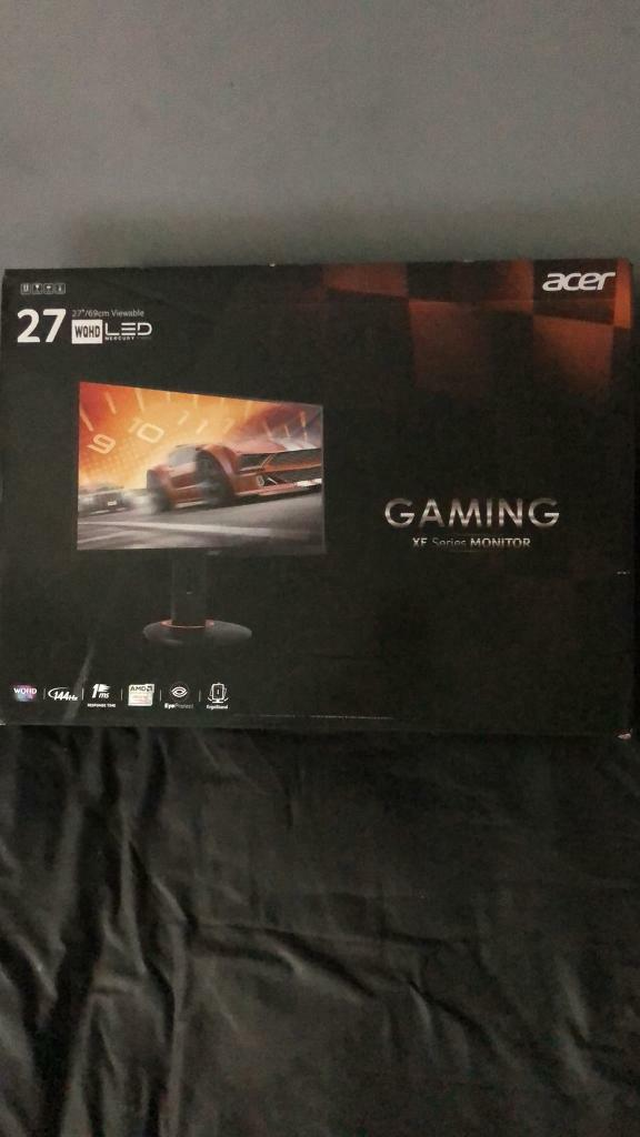 "Acer XF270HU 27"" Inch Gaming Monitor - Brand new Sealed 
