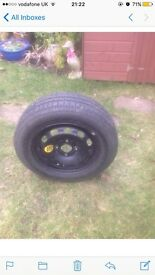 Ford Fiesta 2x alloy wheels. 1x steel spare. Sold together or separately