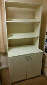 White cupboard and shelf unit from Ikea