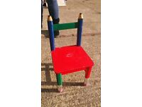 Kids Chair - Pencil design. wood play room nursery craft table