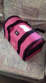 Small pink pet carrier. Ideal for kitten/puppy