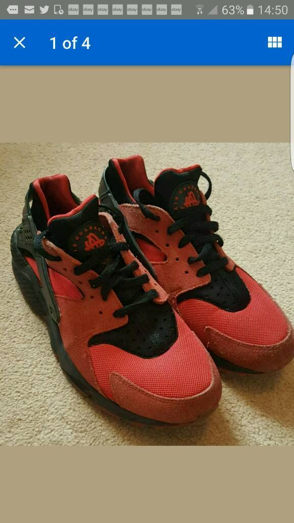 d0a36150d449 nike huarache air red suede ltd edition size 8uk