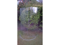 Curved glass shower screen with all chrome attachments - price reduction on 17 May