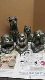 3 monkeys ornaments