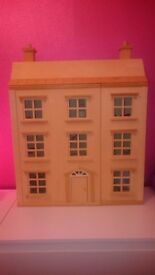 Dolls house with furniture, vgc