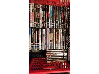 large amount of dvds