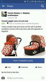 Cosatto carry cot and seat