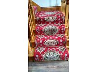 Beautiful Axminster stair and landing carpet for sale