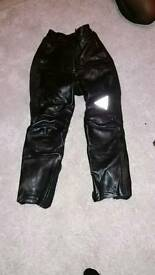 Biker leather trousers size 8