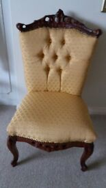 Antique style occassional / tv chair