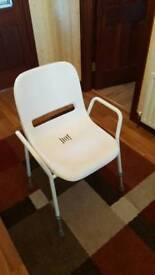 Shower chair with adjustable seat height
