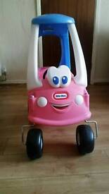 Little tikes cozy coupe car pink