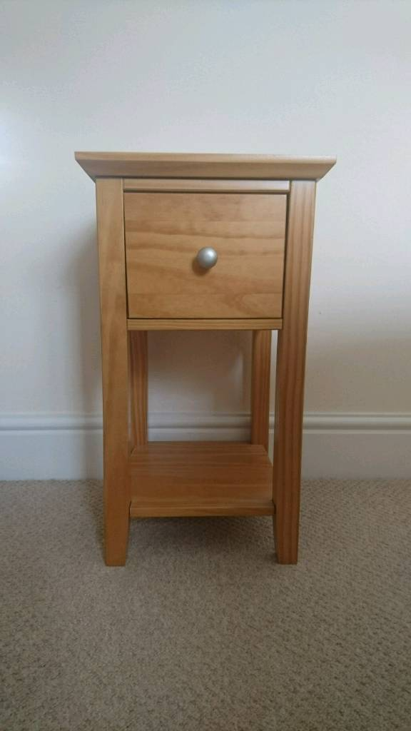 Compact Bedside Tables marks and spencer solid pine wood compact bedside tables set of 2