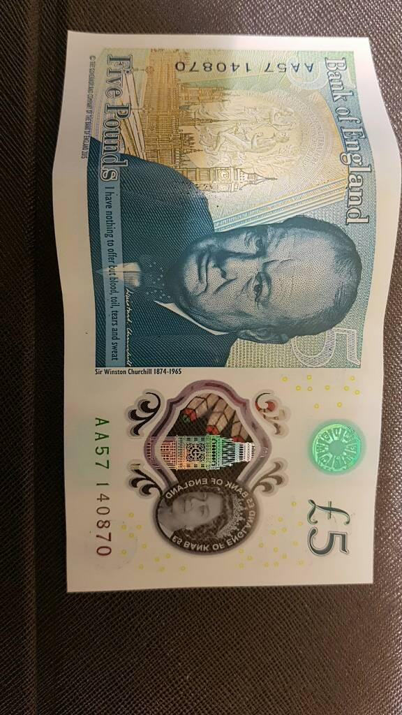 New £5 note AA57