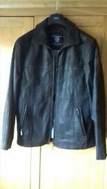 State of art mens brown suede leather jacket, size medium