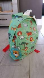 Green Animal themed mini backpack