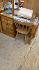 Pine writing desk with chair