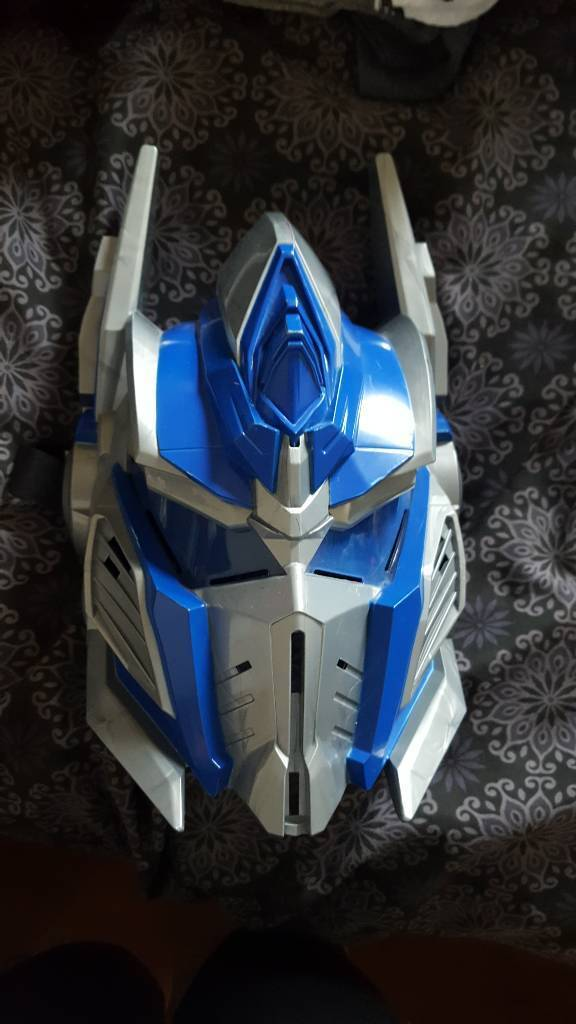 Talking optimus prime mask from transformers