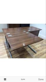 WALNUT OFFICE DESKS X12