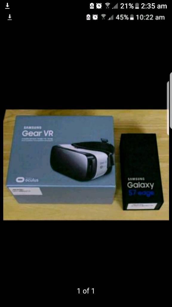 SAMSUNG S7 EDGE 32GB FACTORY UNLOCKED PLUS SAMSUNG VR