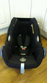 Maxi Cosi Cabriofix car seat, fits lots of pram, pushchairs making travel systems