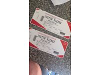 Two Justin Bieber concert tickets. 30th June, Cardiff.