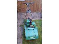 Qualcast Suffolk Punch 30s Cylinder mower with collector box.