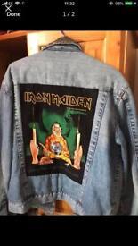 iron maiden jeans jacket