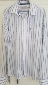 Jack Wills designer mens shirt,stripe. beautiful shirt.size L. Bargain.